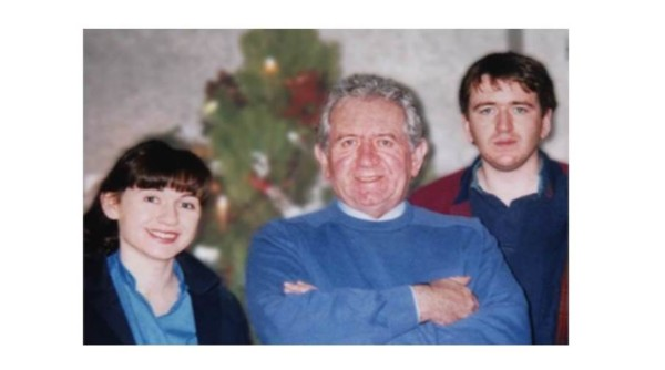 Gen Buckley with her father and brother.  Xmas mid 1990s