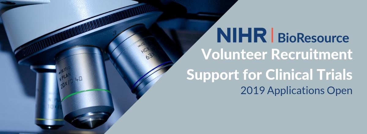 NIHR BioResource 2019 Applications Open for Volunteer Recruitment