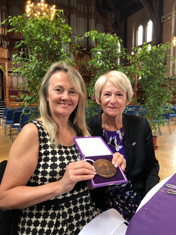 Caroline Dive named University of Manchester Researcher of the Year by Dame Nancy Rothwell