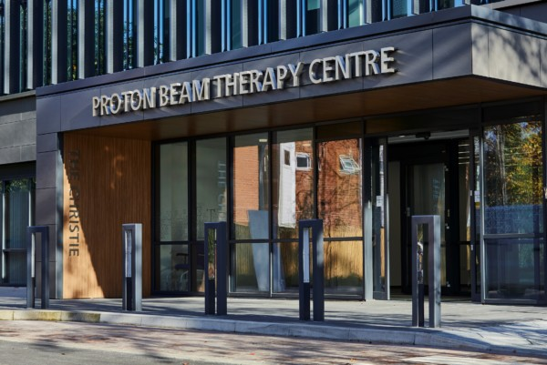 Entrance of the Proton Beam Centre at The Christie Hospital, Manchester
