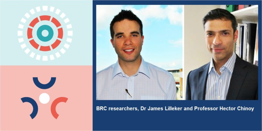 A photo of NIHR Manchester BRC researchers: Dr James Lilleker and Professor Hector Chinoy