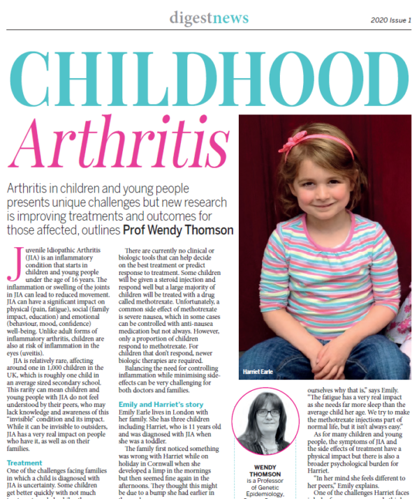 An image of the Arthritis Digest Article