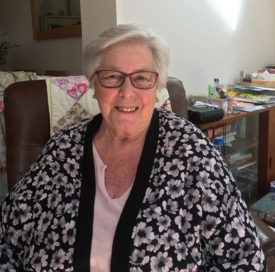 Noreen Ingham, lung cancer patient on the COVID-RT Lung project